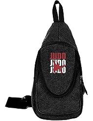 Judo Spirit And Charm Canvas Sling Bag Sport Outdoor Bike Chest Shoulder Pack Unbalance Crossbody Bag Travel Daypack...