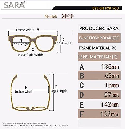 1392e390f7094 Amazon.com  SARA Polarized Sunglass Special Design Square Man and Woman   Shoes