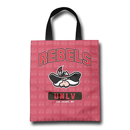 FKKTee University Of Nevada Las Vegas UNLV Rebels Logo Reusable Grocery Bag