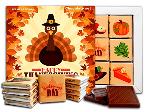 DA CHOCOLATE Candy Souvenir HAPPY THANKSGIVING DAY Chocolate Gift Set 5x5in 1 box (Turkey - Washington Macy's