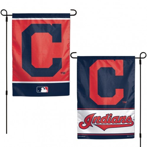 - WinCraft MLB Cleveland Indians 12x18 Garden Style 2 Sided Flag, One Size, Team Color