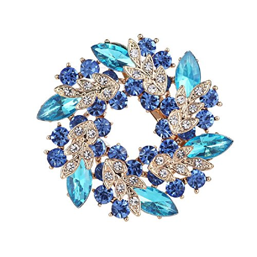 Daisy Jewelry Cheap Vintage Rhinestone Bridal Wedding Bouquet Flower Wreath Brooch Pins For Women