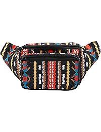 SoJourner Bags Aztec Tribal Fanny Pack (Black)