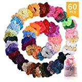 60 Pcs Premium Velvet Hair Scrunchies Hair Bands for Women or Girls Hair Accessories with Gift Box,Great Gift for halloween Thanksgiving day and Christmas: more info