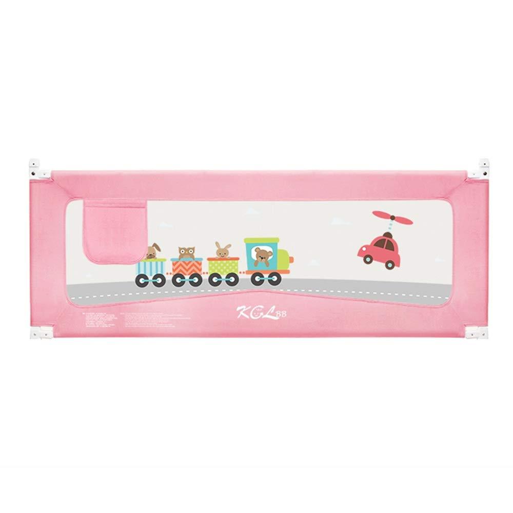 LHA ベッドガードフェンス ベビーチャイルドベッドフェンス、ベビーベッドサイドガードレール、縦型リフティング、ベッドサイドテーブルを恐れていない、厚手マットレスユニバーサル-120cm、150cm、180cm、200cm (色 : Pink, サイズ さいず : L-200cm) L-200cm Pink B07PQNZLC2