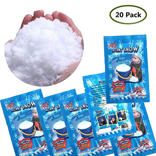 QingQiu Makes 5 Gallons Fake Snow Instant Snow Powder Artificial Snow for DIY Cloud Slime, Frozen Birthdays, Wedding Party Decoration
