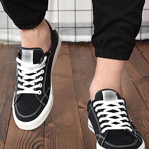 uomo coreano Scarpe di casuali Espadrillas tela YaNanHome stile degli 41 selvaggi tela Bianca di scarpe estate scarpe tela da Black di uomini Scarpe di di Size Color delle basse delle 6IxqXU