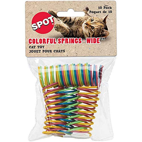 Ethical Pet Products colorful Springs Wide Cat Toy 10 pack Scratchers and Toys