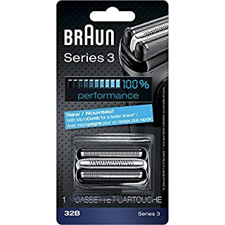 Braun Series 3 32B Foil & Cutter Replacement Head, Compatible with Models 3000s, 3010s, 3040s, 3050cc, 3070cc, 3080s, 3090cc (B003UH1Q3U) | Amazon price tracker / tracking, Amazon price history charts, Amazon price watches, Amazon price drop alerts