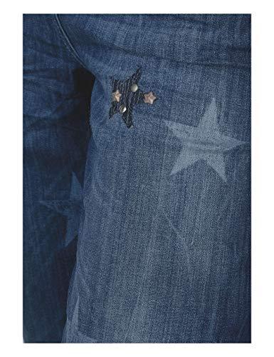 Mujer Used Para Vaqueros 10320 mid Wash Blau Blue Straight Cecil wtTfvq