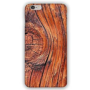 Red Oak Knotty Wood Pattern iPhone 6 Plus Slim Phone Case