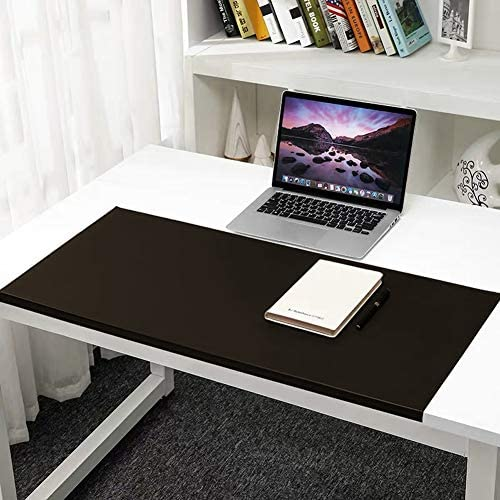 Schreibtischunterlage mit Kantenschutz,80x50cm,PU Leder Tischunterlage Groß Mauspad, extrem stabil und hitzebeständig, Anti-Rutsch Schreibunterlage Büro/Zuhause