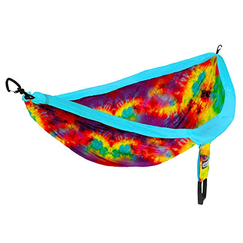 ENO Eagles Nest Outfitters - DoubleNest Print, Portable Hammock for Two, Tie Dye