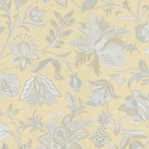 Mirage 988-58619 Ynes Jacobean Wallpaper, Yellow
