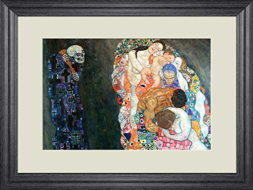 Creative 3D Visual Effect Wall Mural Death and Life by Gustav Klimt Peel Stick Wall Decor