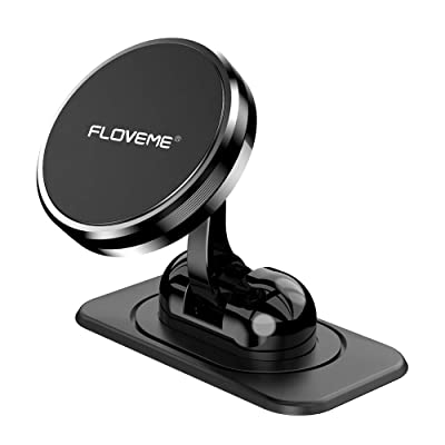 Magnetic Phone Car Mount - FLOVEME 360° Rotate Magnetic Cell Phone Holder for Car Dashboard Hands Free Phone Magnet Car Mount for iPhone 11 Pro Xs Max X XR 8 7 6 Samsung Note 10 9 S11 S10 S9 S8 Plus [5Bkhe1000988]