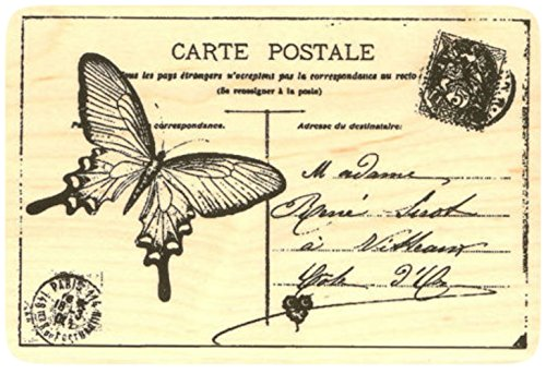 Butterfly Postcard Rubber Stamp
