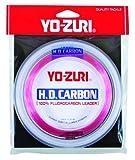 Yo-Zuri H.D. Fluorocarbon Wrist Spool 100-Yard Leader Line, Pink, 40-Pound