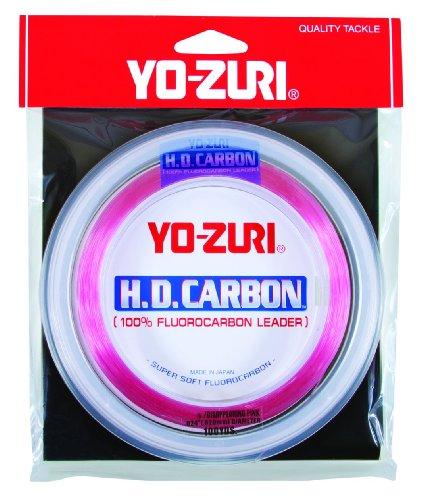Yo-Zuri H.D. Fluorocarbon Wrist Spool 100-Yard Leader Line, Pink, 60-Pound