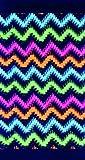 Dohler Beach Towel, Colorful Zig-Zag