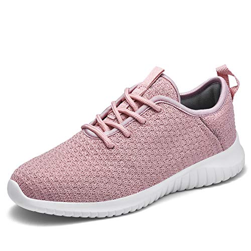 TIOSEBON Women's Lightweight Golf Shoes Breathable Walking Sneakers 9 US Mauve (Best Golf Shoes For 2019)