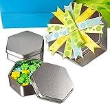 Hexagonal Steel Tin Can 3 3/16'' X 3 3/16'' X 5'' | Quantity: 192