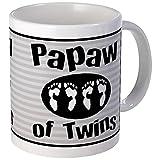 CafePress - Papaw Of Twins Mug - Unique Coffee Mug, Coffee Cup