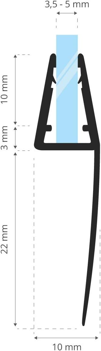 STEIGNER 30 cm Junta Repuesto Para el Vidrio 3,5mm/4mm/5mm Junta ...