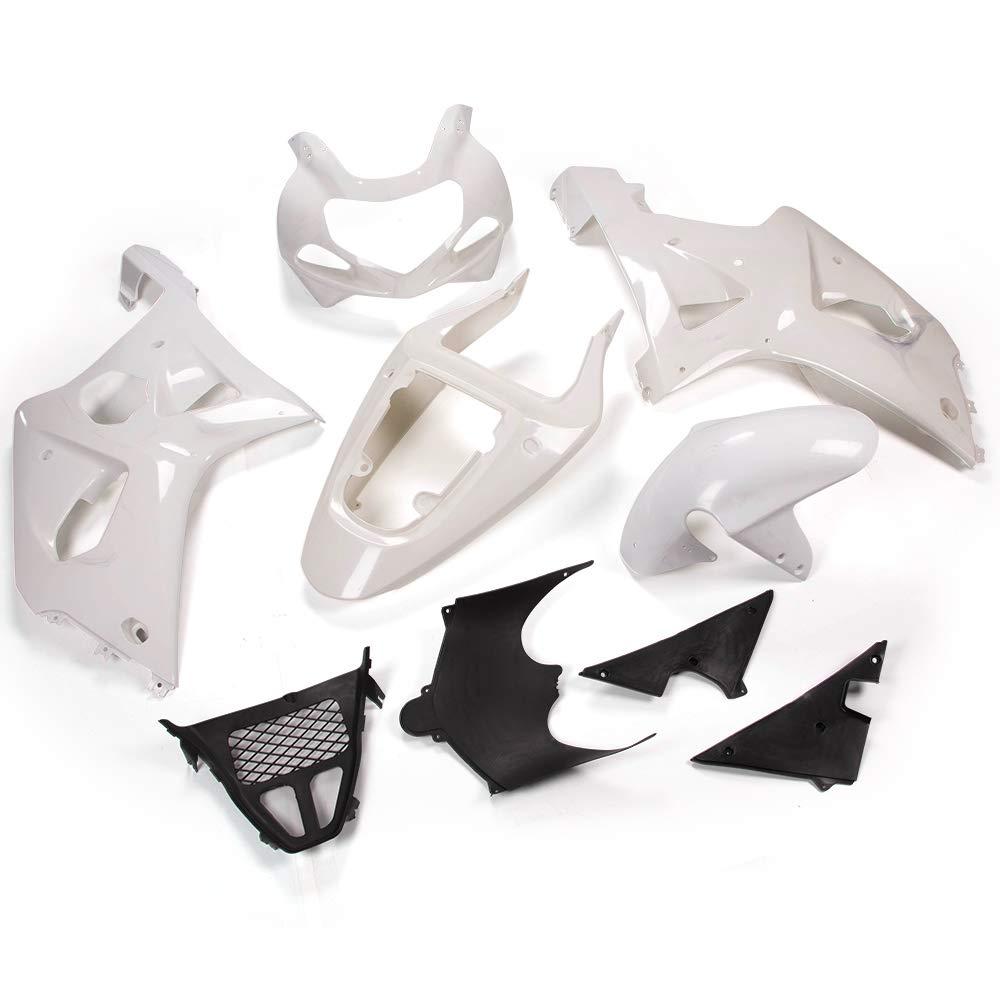 New Motorcycle White Unpainted ABS Plastic Fairing Cowl Bodywork Set For SUZUKI GSX-R 1000 GSXR1000 K1 2000-2002 2001 9 pcs set