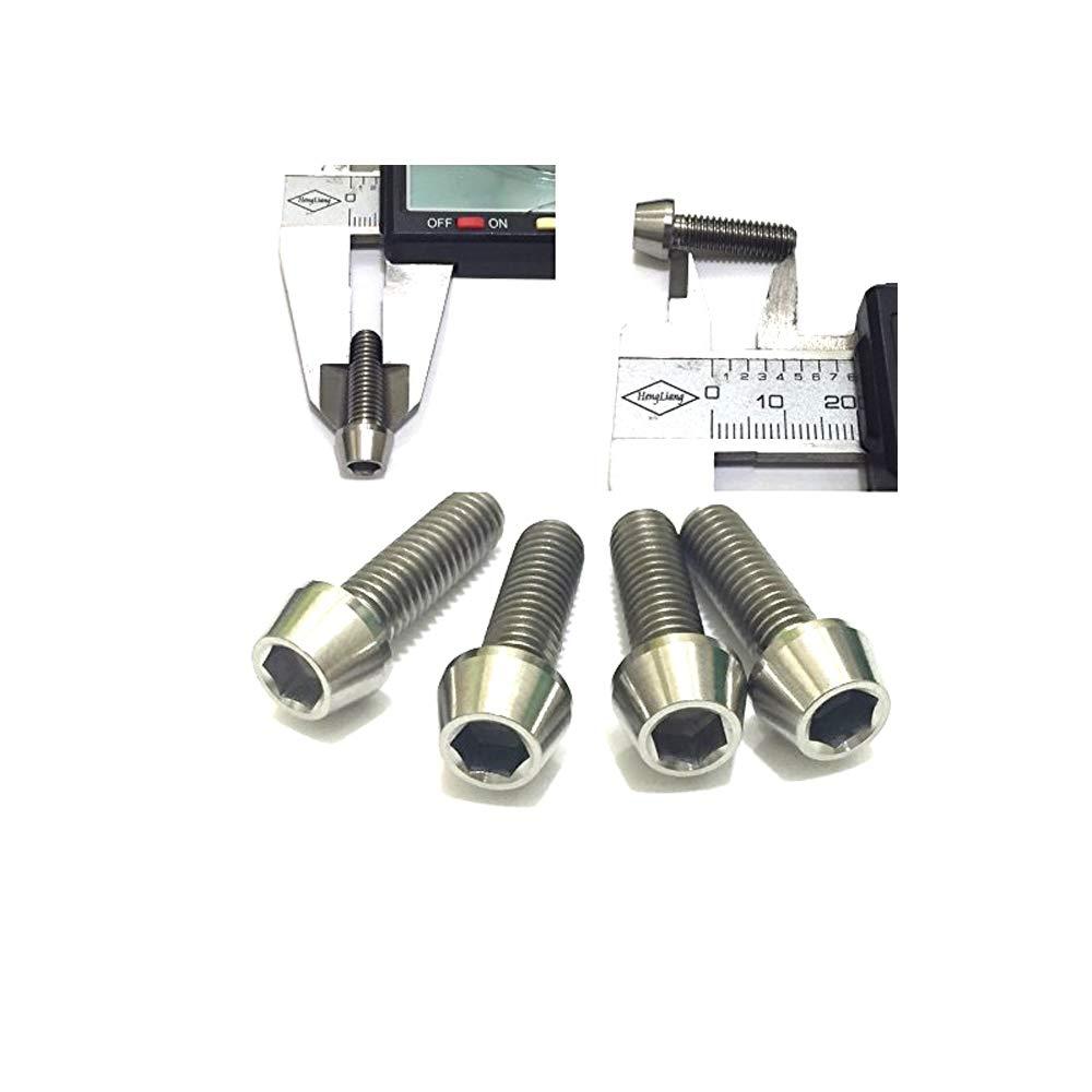 VEDA, bullone vite R1, M6x 20mm grado 5, 6Al, 4V in titanio (4 pezzi) M6x 20mm grado 5 6Al 4V in titanio (4 pezzi) .