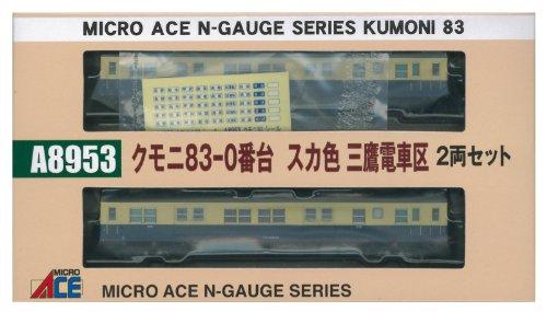 マイクロエース Nゲージ クモニ83-0番台 スカ色 三鷹電車区 2両セット A8953 鉄道模型 電車の商品画像