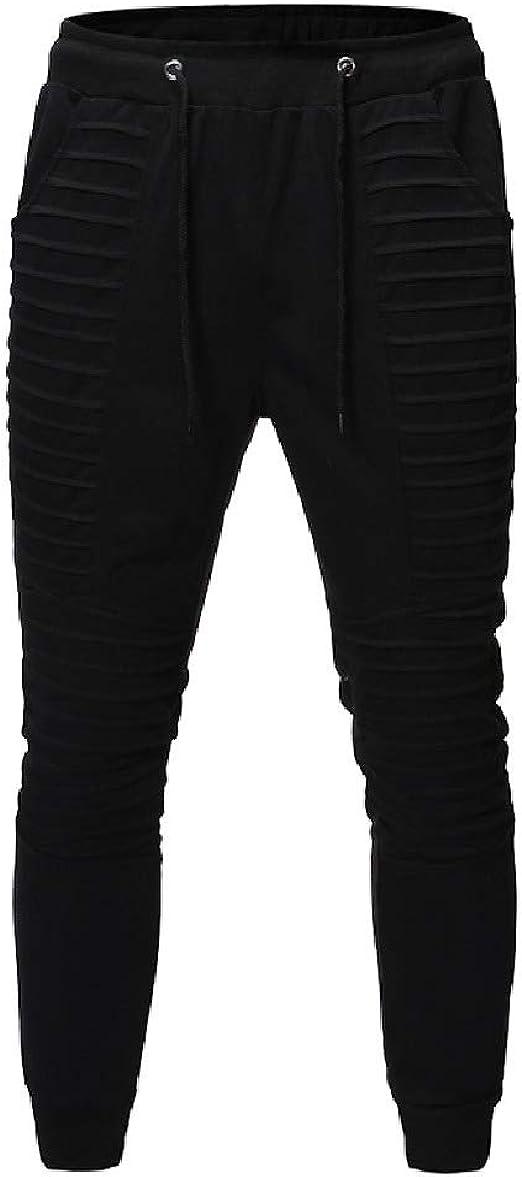 VITryst Men's Drape Up Casual Outdoor Teenagers Regular-Fit Running Jogger Bottom Pants