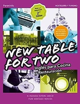 Amazon Com New Table For Two Inglés Para Cocina Y