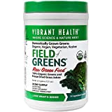 freeze dried greens powder - Vibrant Health - Field of Greens, Organic Raw Greens Superfood Juice Powder, 30 Servings (FFP)