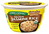 Golden Star Organic Ready to Eat Brown Jasmine Rice Bowl 180grams (pack of 6)