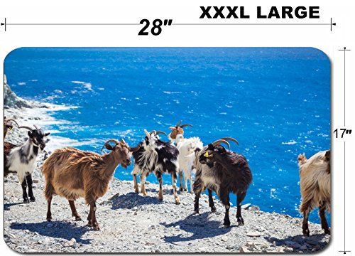 - Luxlady Large Table Mat Non-Slip Natural Rubber Desk Pads ID: 40508688 Wild living goats in Corsica