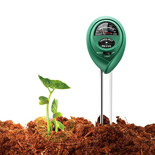 Covery 3 in 1 Soil Tester Moisture Meter, Light and PH acidity Tester,...