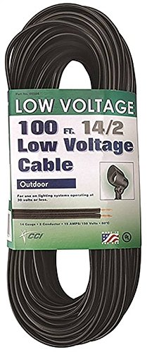 Southwire 55213243 14/2 Low Voltage Outdoor Landscape Lighting Cable, 100-Feet, 100 ft, N