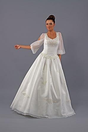 Ng Bridal Brautkleid Trachten Brautmode Mit Armel 1711 Weiss Ivory