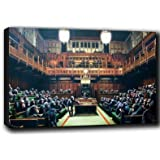 """Banksy Monkey Parliament canvas print 30""""x20"""""""