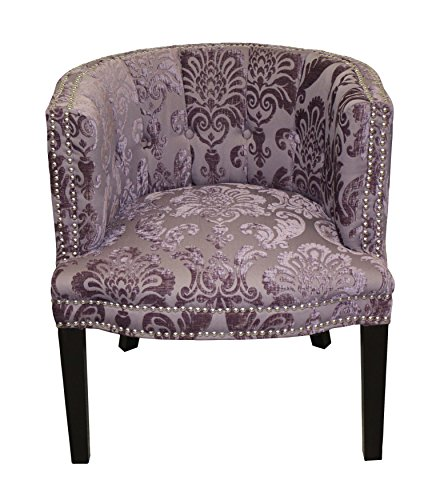 HD Couture Bohemian Fan Damask Chair, Black Plum (Chair Plum Accent)