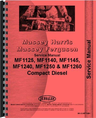 Massey Ferguson 1125 1140 1240 1250 1260 Tractor Service Manual (MH-S-MF1240+)