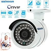 KKmoon HD 720P Wireless Wifi Camera + 8G TF Card Indoor & Outdoor CCTV Security P2P Network IP Cloud Bullet Camera support Onvif2.4 IR-CUT Night View Motion Detection Email Alert Android/iOS APP