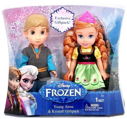 (Disney Frozen Young Anna and Kristoff Toddler Doll Giftpack )