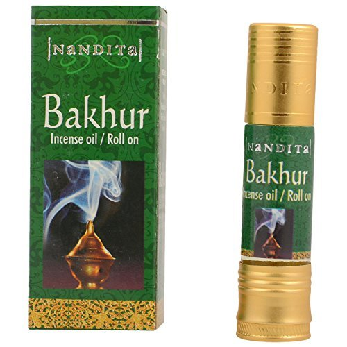 Nandita Bakhur Incense Oil - Roll On - 8ml Bottle ()
