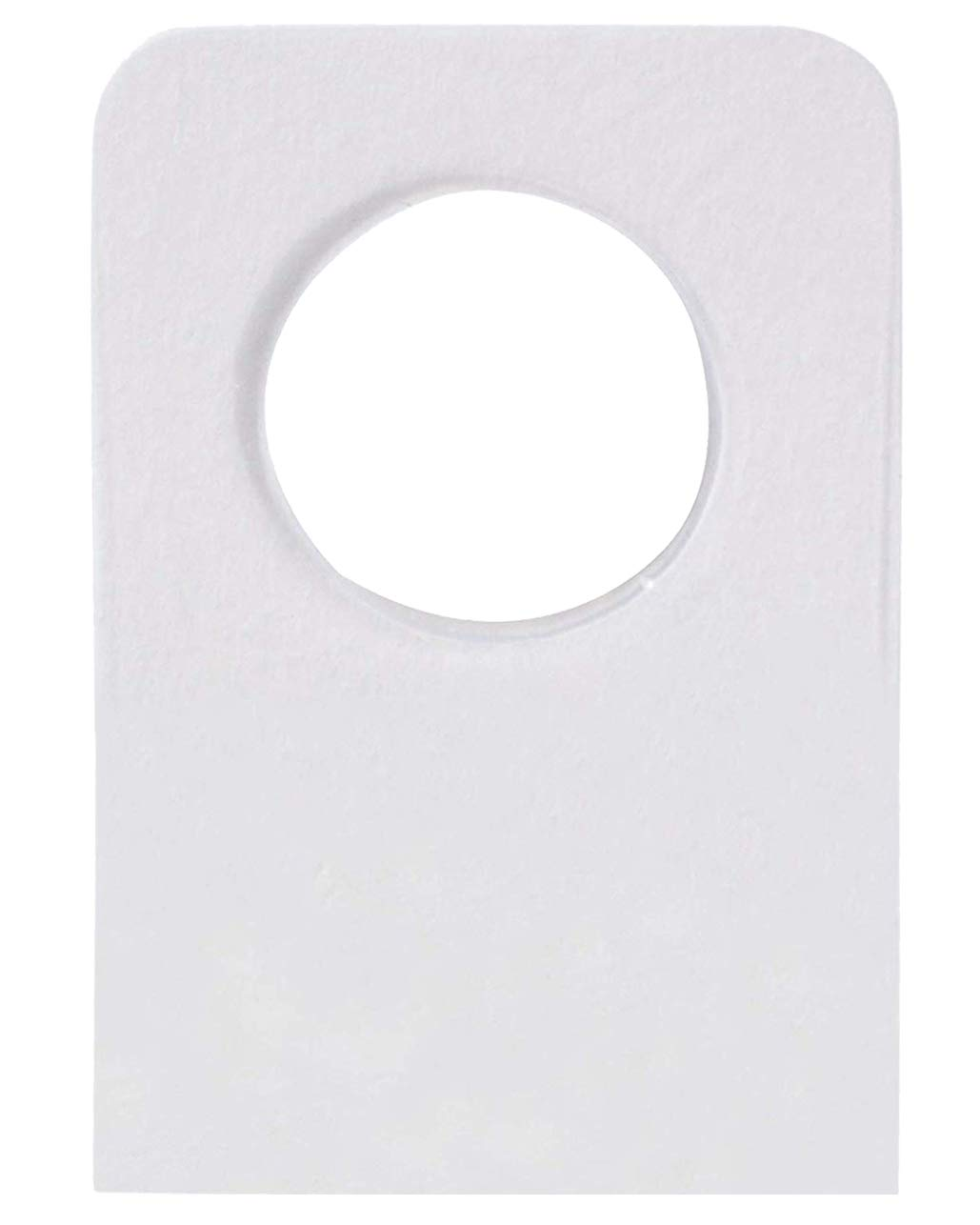 Hang Tabs - 1000-Pack Hanging Display Tabs with Peel and Stick Adhesive, Round Hole Design, for Retail Store Display, Pegboard and Slatwall Hook Tabs, Clear, 1.25 x 0.88 Inches