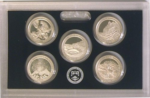 2012 Silver America the Beautiful National Parks Quarters Proof Set in Box