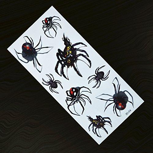 Generic 3d y 3d realista personalidad resistente al agua tatuaje pegatinas araña Halloween Funny duradera Totem
