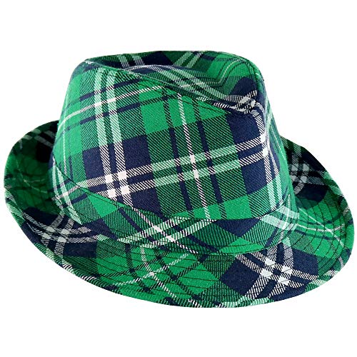 Plaid Green Fedora