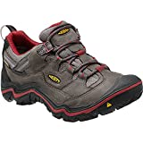 KEEN Women's Durand Low WP Hiking Shoe, Magnet/Red Dahlia, 8 M US